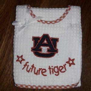 Auburn University Baby Bib & Burp Cloth
